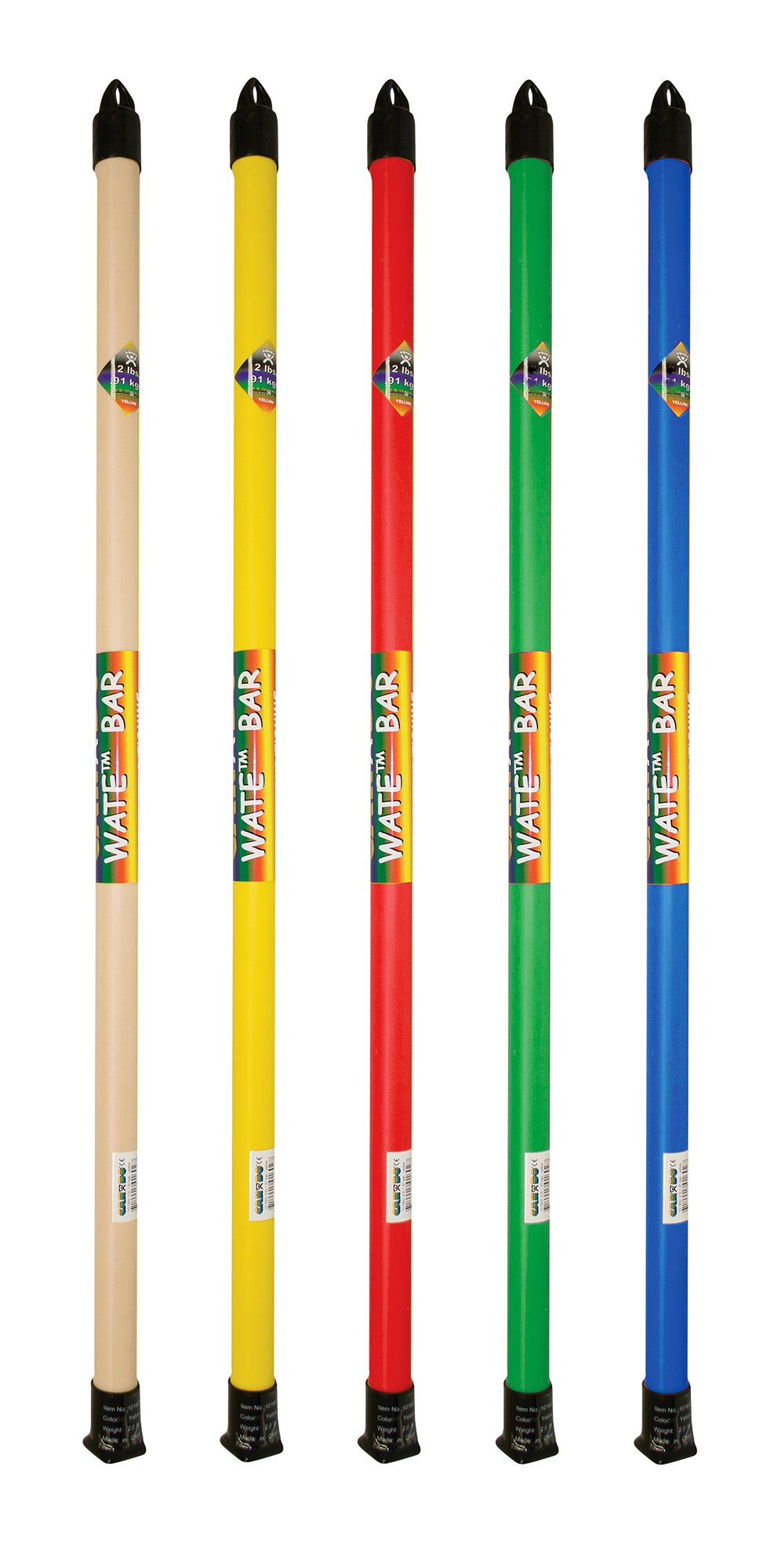 CanDo SLIM WaTE Bar - 5-Piece Bundle - 1, 2, 3, 4, 5 lb by Cando (Image #1)