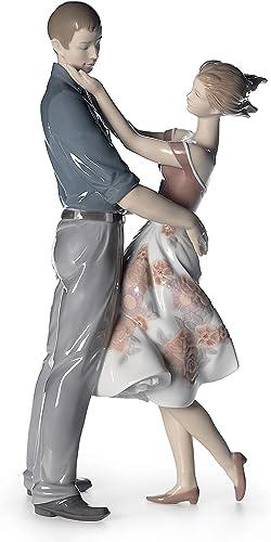 LLADR Happy Encounter Couple Figurine. Porcelain Bride and Groom Figure.