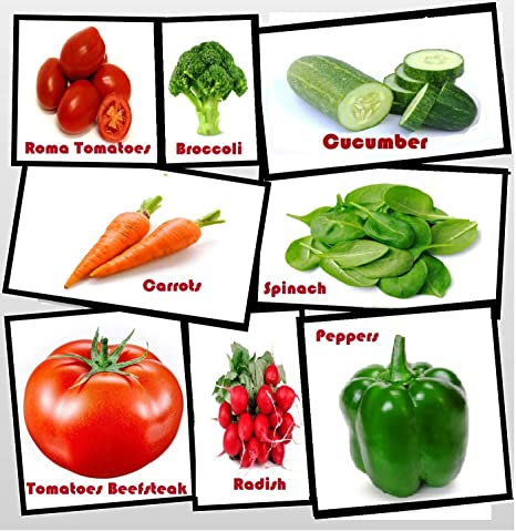 Variety of The Most Popular Vegetable Seeds in Zipper Mylar Bag-Vegetable Seeds for Planting-Garden Seeds Heirloom Vegetable Seeds Easy to Grow Full Size Seed Packs-Non GMO