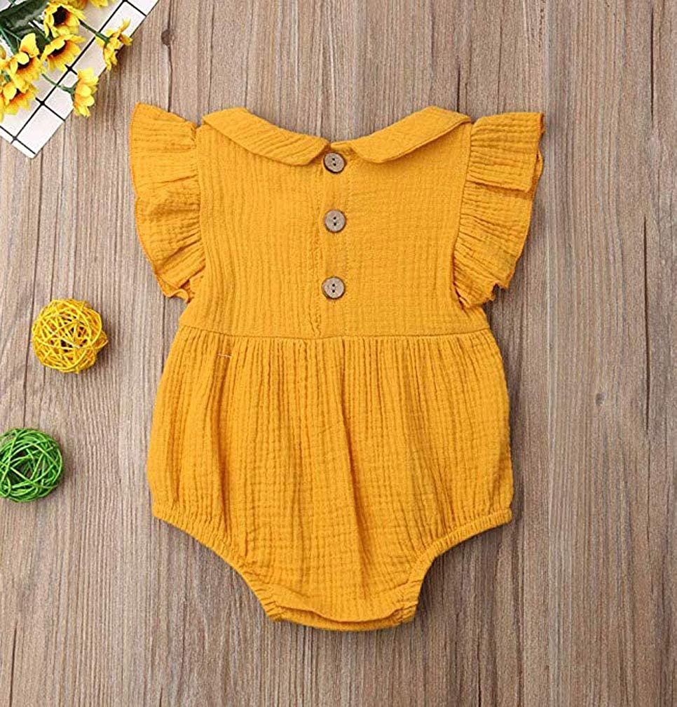 Lzxuan Baby Girl Clothes Newborn Infant Romper Flare Sleeve Jumpsuit One-Pieces Outfits