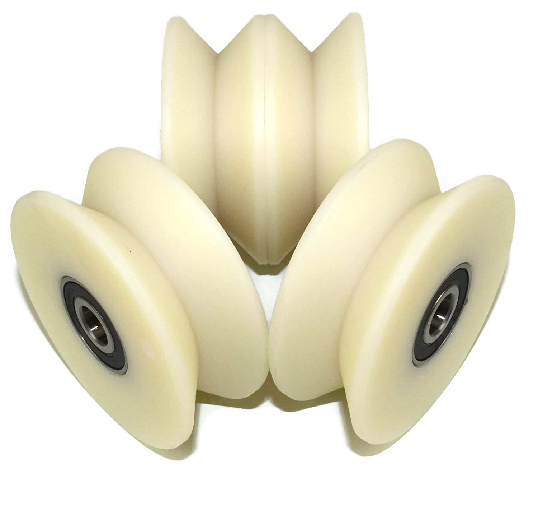 (V80–30–10) Lot de 4roues de poulie en nylon Polyamide avec 90° V Groove portail coulissant de roue fabriqué en Union Européenne Smart Machines
