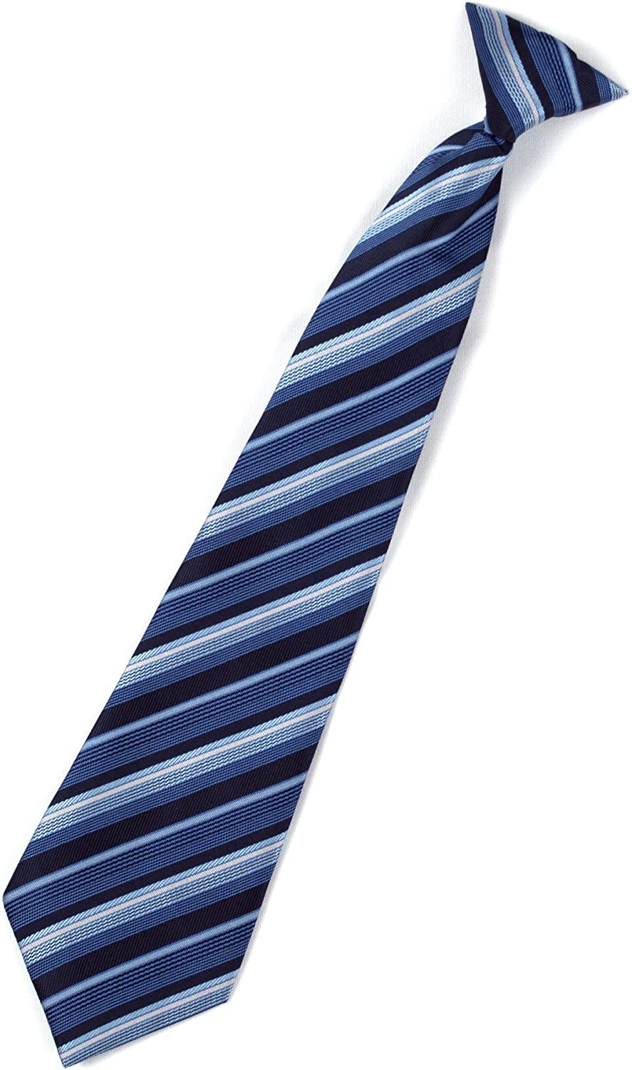 Spring Notion Boys Pinstripe Navy Blue Suit with Matching Tie and Bow Tie
