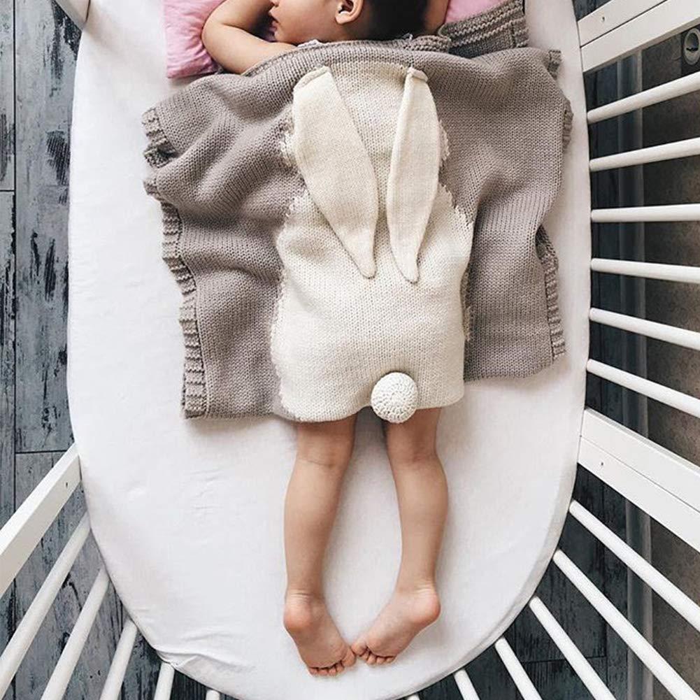 weich pu ran Baby Winterdecke f/ür Neugeborene Hasenohren H/äkeldecke f/ür Kinder Khaki warm