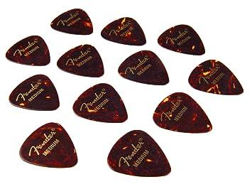 Fender 351 - Púa par guitarra (mediana, 12 unidades): Amazon.es: Instrumentos musicales