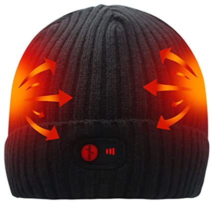 5beb2a197cc26 Amazon.com  SVPRO Rechargeable Battery Heated Beanie Hat
