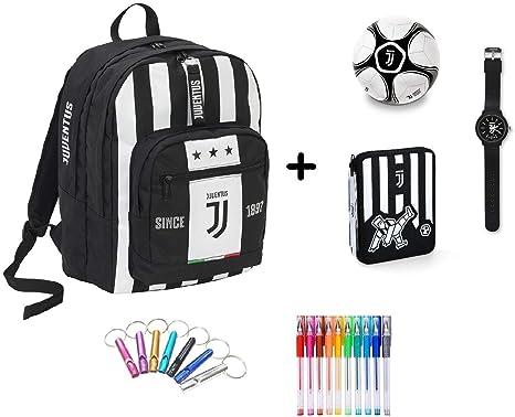 Mochila Escolar Juventus Juve Seven Big Plus + Estuche de 2 Pisos ...