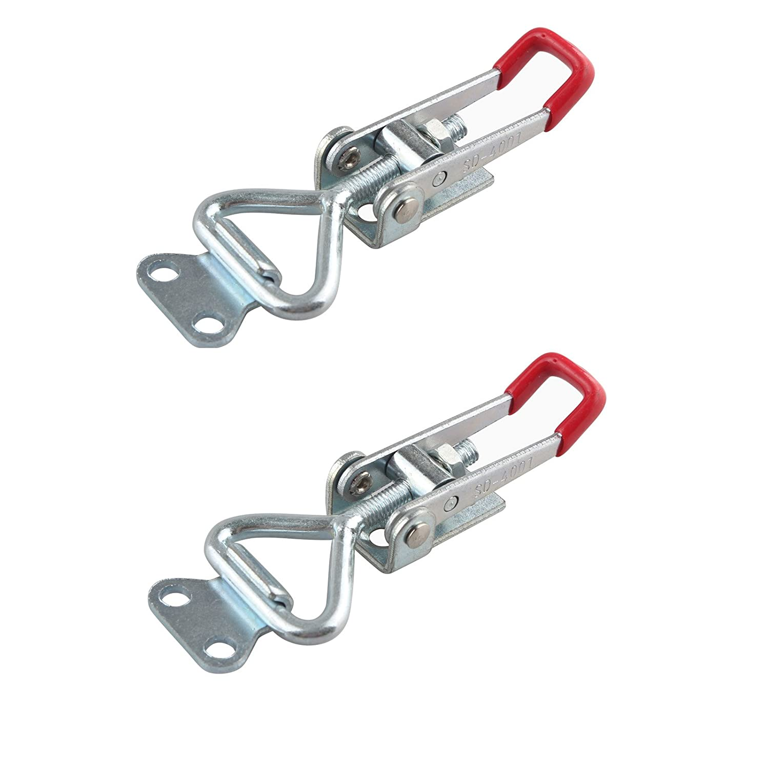 HALJIA 2PCS 4001 100Kg 220Lbs Holding Capacity Latch Door Button Toggle Clamp