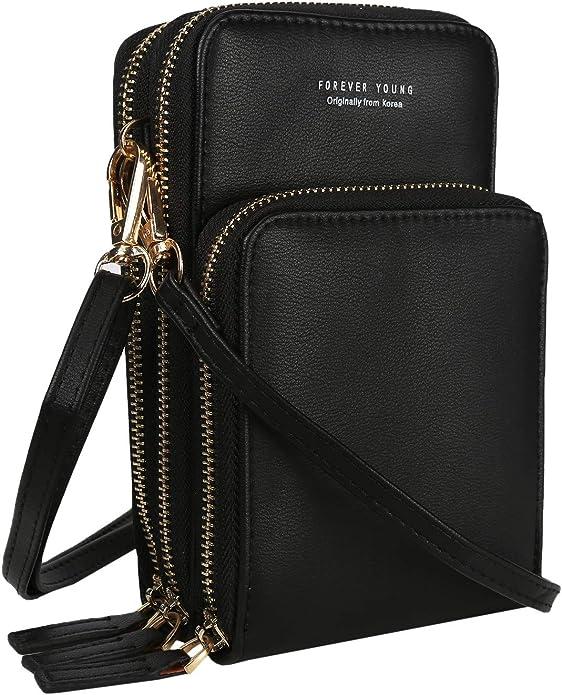 Women/'s Lovely Mini Cross-Body Cell Phone Shoulder Strap Wallet Pouch L9I5