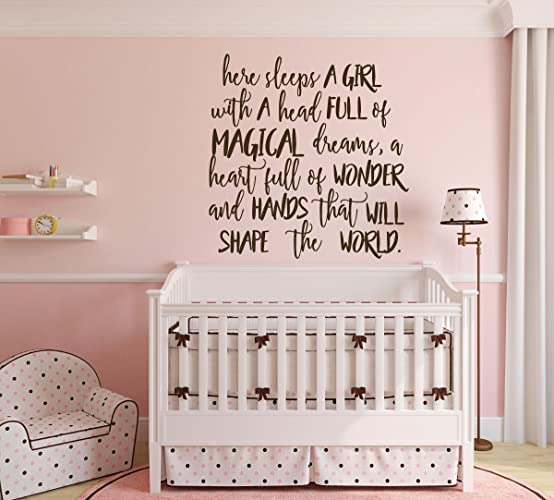Amazon.com: Baby Girl Wall Decor - Nursery Vinyl Lettering ...