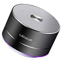 LENRUE Portable Wireless Bluetooth Speaker with Built-in-Mic,Handsfree Call,AUX Line,TF Card for Iphone Ipad Android Smartphone and More (Grey)