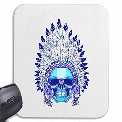 Reifen-Markt Mousepad Alfombrilla de ratón Red Chief CRÁNEO con LA Cabeza India Occidental Indio