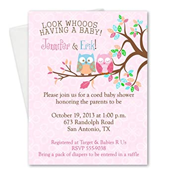 amazon com sweet owls baby shower owl birthday party invitations