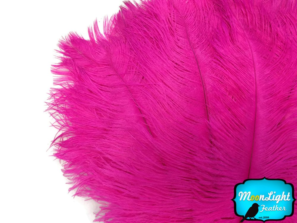 1/2 lb - 19-24'' HOT PINK Ostrich Extra Long Drab Wholesale Feathers (bulk)