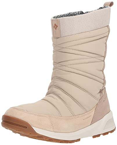 33110a3c13ed Columbia Women's Meadows Slip-ON Omni-Heat 3D Mid Calf Boot, Ancient Fossil