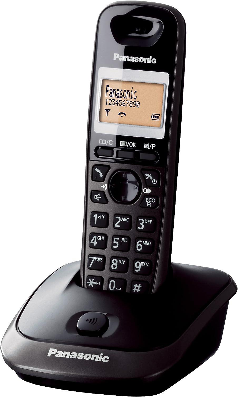 Panasonic KX-TG2511JTT - Teléfono (DECT, 50 entradas, Identificador de Llamadas) Color Titanio [Versión Importada]