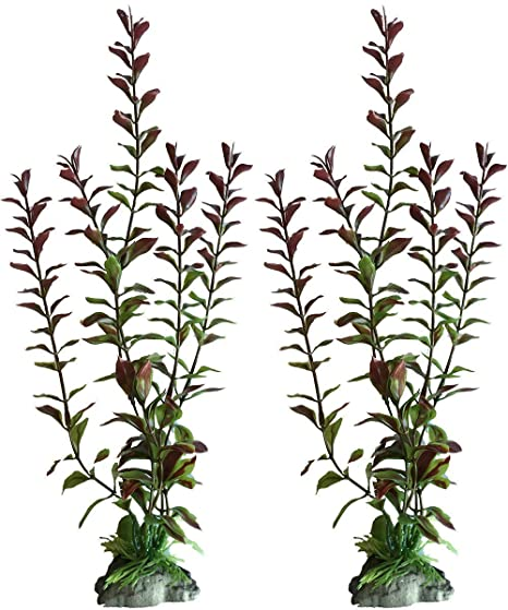 amazon 2 pack 10 inch red ludwigia artificial plants for Betta Fish Sand amazon 2 pack 10 inch red ludwigia artificial plants for tropical fish aquariums terrariums great for angel fish tetras pet supplies
