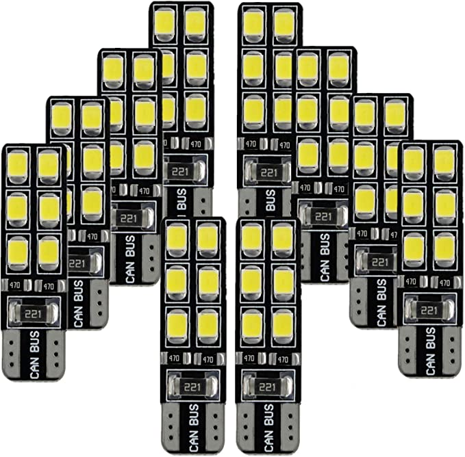 2x 5 SMD LED Luces Laterales 501 T10 XENON BLANCO AUDI. el foco Ford Transit Fiesta