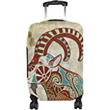 Constellation Zodiac Sign Capricorn Luggage Cover Travel Suitcase Protector Fits 18-21 Inch Luggage
