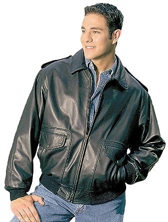Black Bomber Leather Jacket