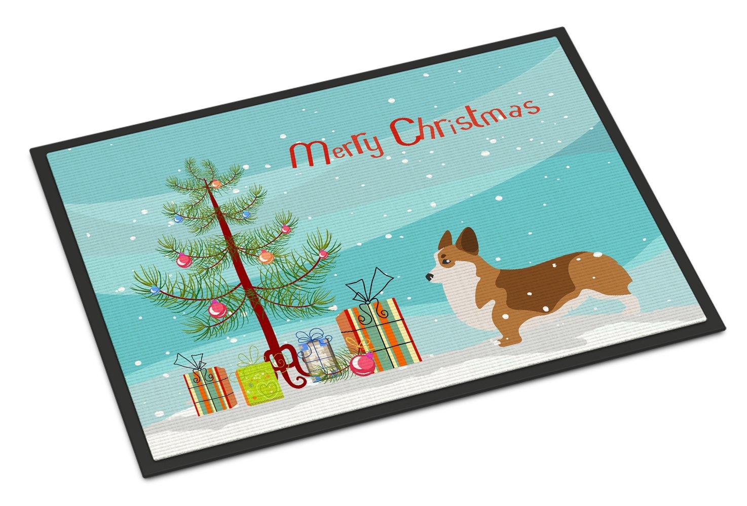 Carolines Treasures Greyhound Merry Christmas Tree Indoor or Outdoor Mat 24x36 BB2923JMAT 24 x 36 Multicolor
