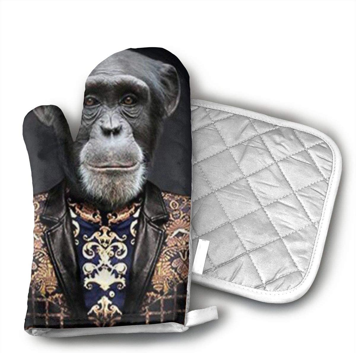 EDAKEE Gorilla -6 Oven Mitts and Thermal Pads for All The Best Kitchen Grill