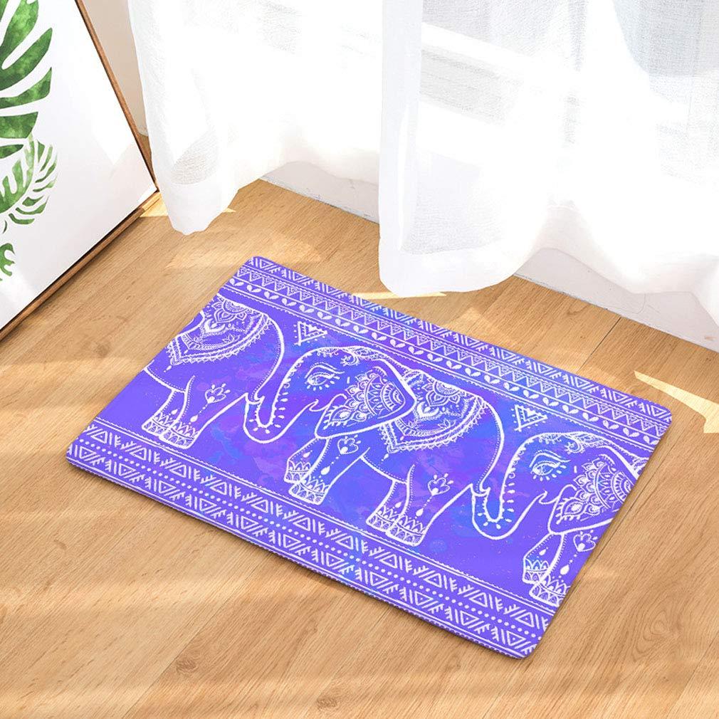 Hochleistungsqualit/ät Rutschfeste Haus-Eingangst/ürmatte f/ür Innen waschbarer Weihnachts-Teppich Elefantengiraffe 1-15.7 * 23.6inch //40 * 60cm Baisheng Doormat Direct Barrier Mats