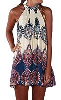 WEEL ARROW Women's Printed Halter Dress