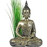 INtrenDU® Buda Figura Decorativa Chino 40cm decoración Zen para Interior Feng Shui