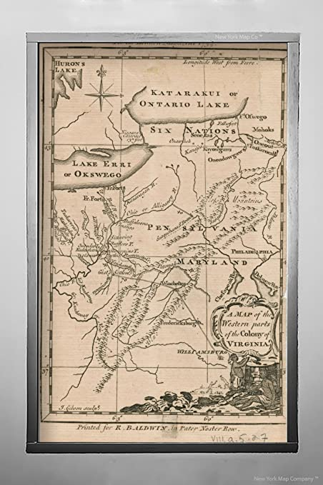 Amazon Com 1754 Map Virginia Of The Western Parts Of The Colony Of