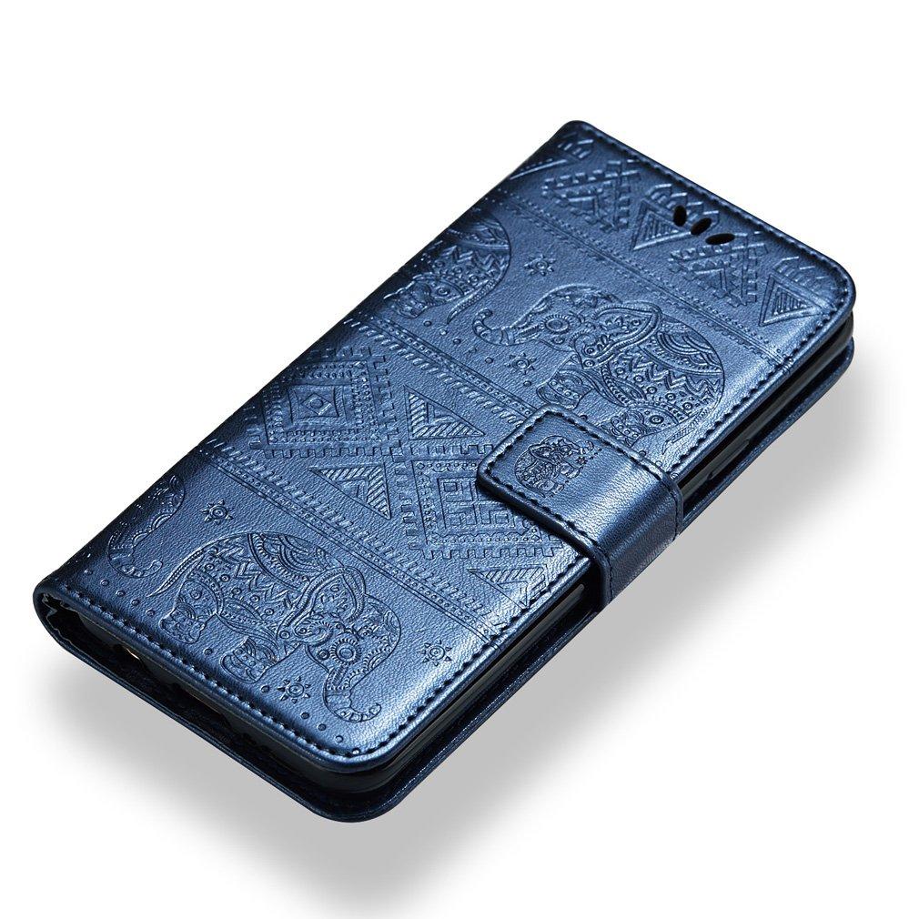 5,5 Zoll PU Leder Magnet Brieftasche Lederh/ülle Elefant Pr/ägung Design Stent-Funktion Handyh/ülle f/ür Nokia 6.1 LMFULM/® H/ülle f/ür Nokia 6.1 Nokia 6 2018 Nokia 6 2018 Rosa
