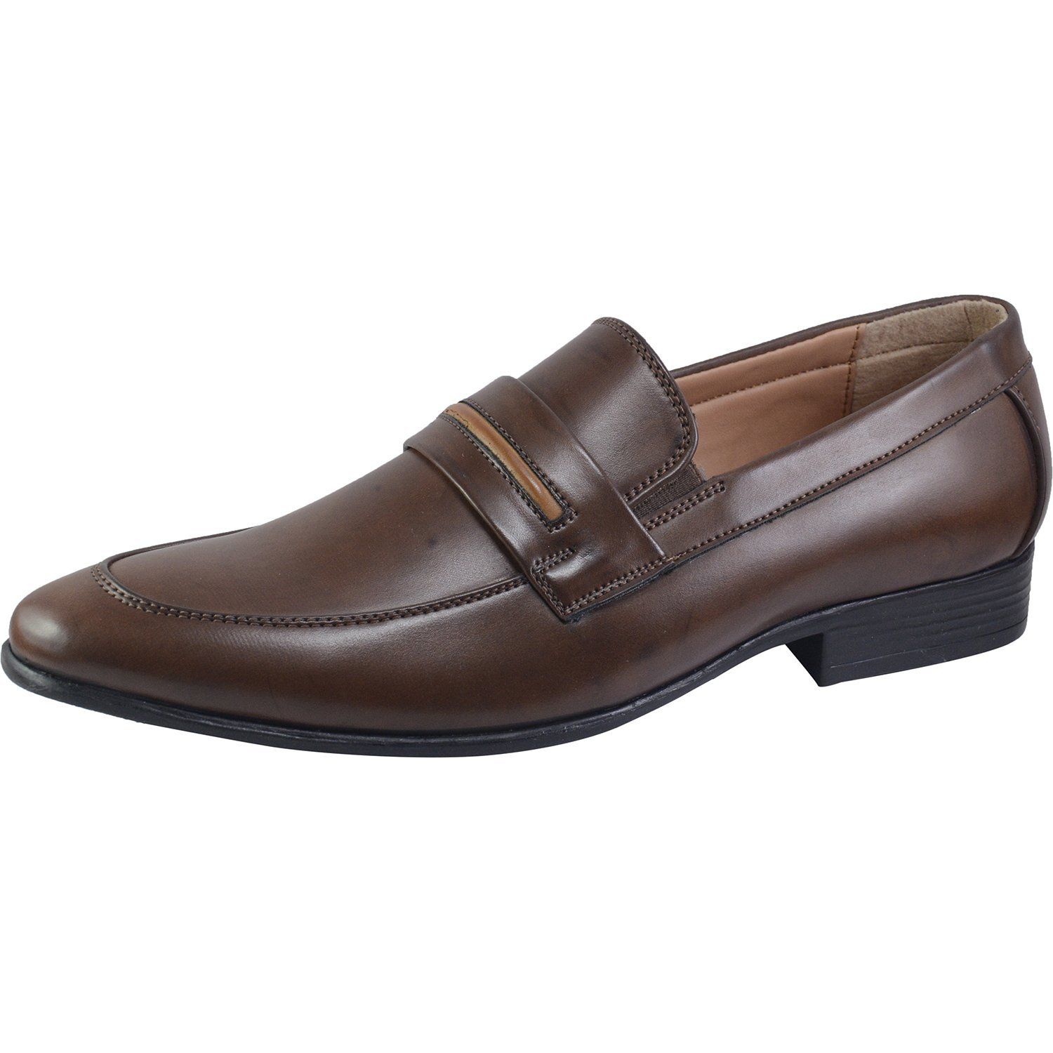 Vonzo Mens Business Slip-on Dress Shoes Semi-Formal Oxford