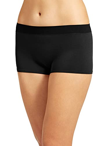 Jockey Women's Underwear Modern Micro Boyshort, black, 5