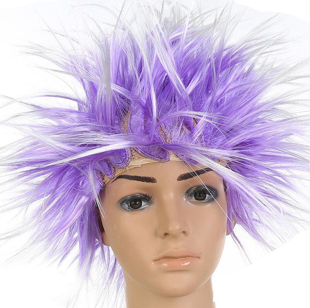 Longless Longless Longless Sandstrahlen Kopf Perücken Halloween Ball Farbe Perücken Perücken zeigen Requisiten 59fc8d
