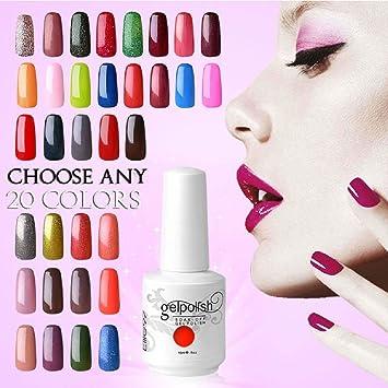 Amazon elite99 pick any 20 colors soak off gel nail polish elite99 pick any 20 colors soak off gel nail polish uv led color nail art gift prinsesfo Images
