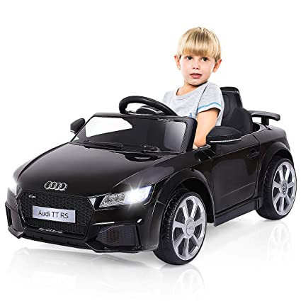 c7e775858f35 Amazon.com: Costzon Kids Ride On Car, Licensed 12V Audi TT RS, Remote  Control Manual Two Modes Operation, MP3 Lights, Black: Toys & Games