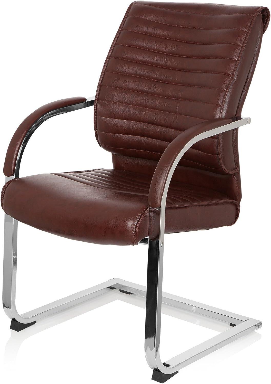 MyBuero 725015 VISITER CL120 Chaise de conférence avec accoudoirs pour travailler et se détendre au bureau Fauteuil ergonomique en cuir synthétique