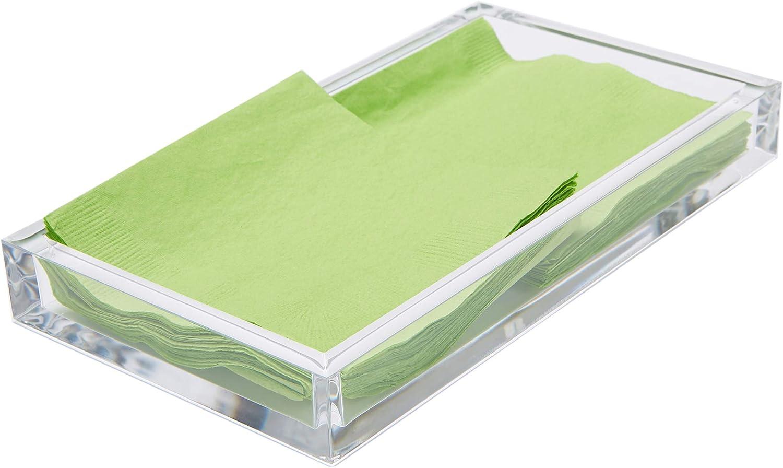 Mind Reader Acrylic Tray, Flat Storage Organizer, Counter Top Clear Napkin Holder, Kitchen, Brunch, Picnics, One Size