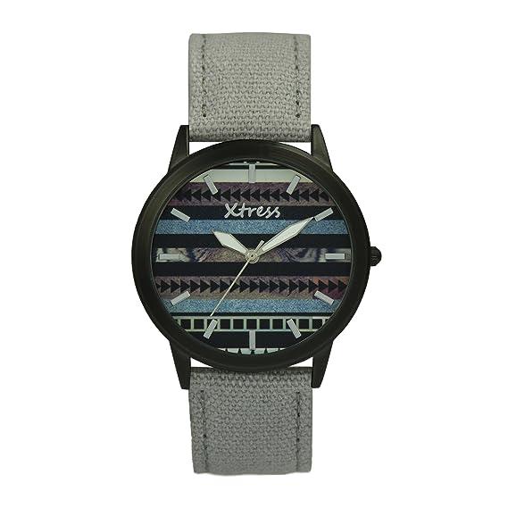 XTRESS Reloj Analógico para Hombre de Cuarzo con Correa en Nailon XNA1035-12: Amazon.es: Relojes