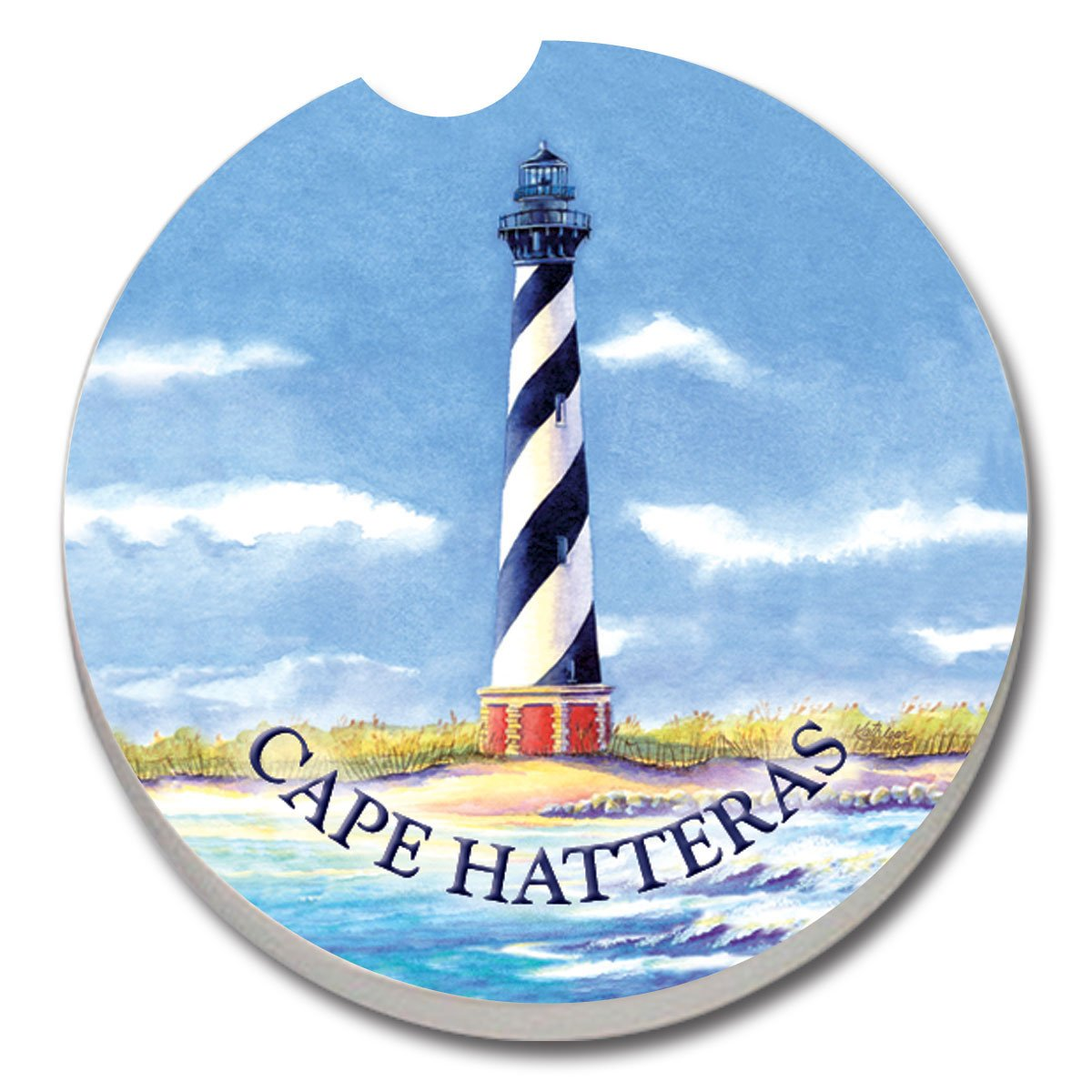 Counterart Absorbent Stoneware Car Coaster Cape Hatteras Lighthouse Amazon In Industrial Scientific