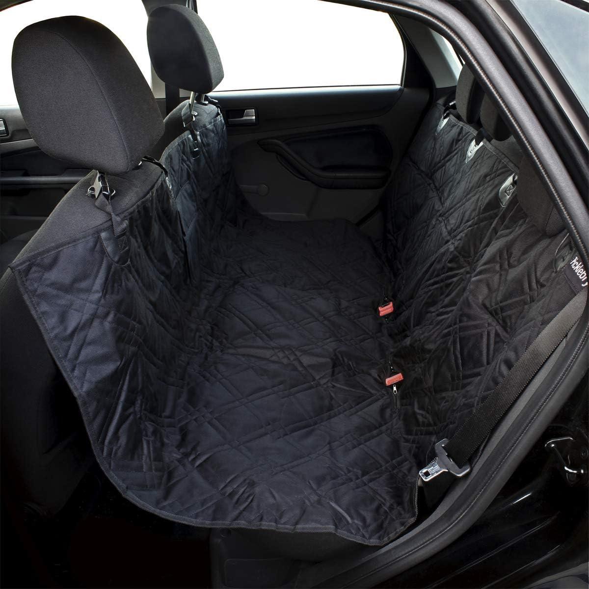 picklebry Gesteppte Luxus Gepolsterte Hund Auto Sitzbezug und Autositz G/ürtelclip wasserdicht Pet Sitzbezug mit rutschfester R/ückseite und verstellbarem Sitz Gurte