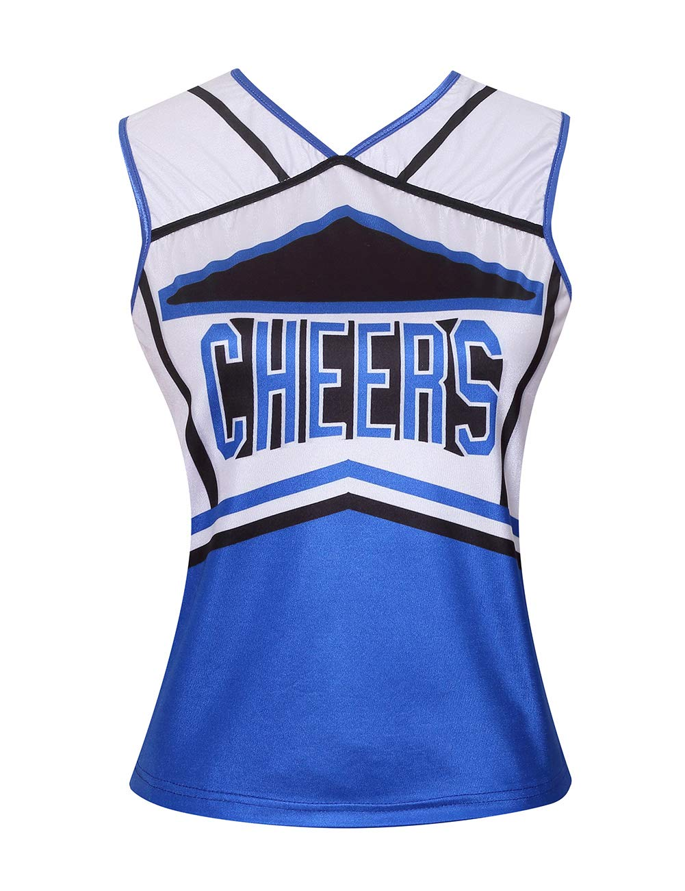 Colorful House Womens Cheerleader Costume Uniform Fancy Dress (Size L, Blue) by Colorful House (Image #2)