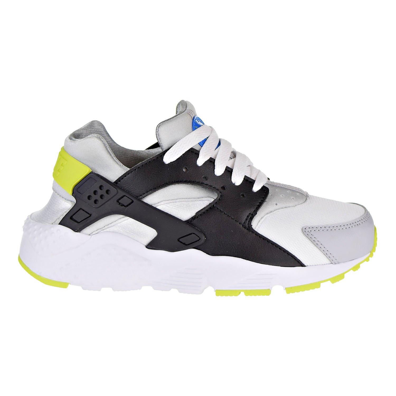 new style 31360 6d21c Nike Huarache Run Big Kids' Running Shoes White/Cyber-Photo Blue 654275-112  (7 M US)