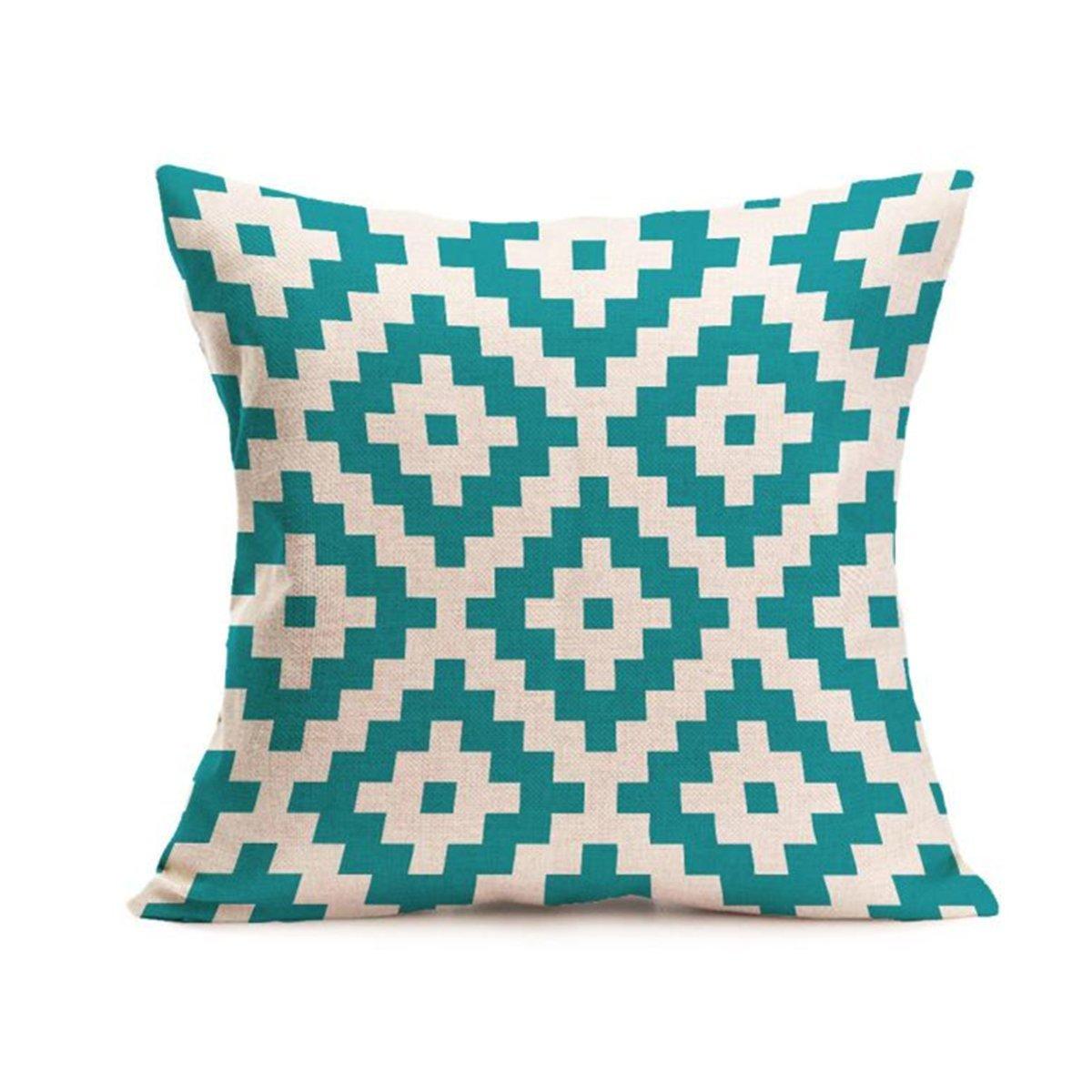 Longra Bohême Géométrique Throw Pillow Case Housse de Coussin Décoration de Maison 45cm * 45cm (A)