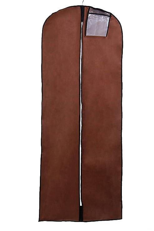 TUKA Transpirable 180 cm x 65 cm Bolsa de Ropa Protector para vestidos, trajes, abrigos. - cierre de cremallera - bolsillo para accesorios, Funda de ...