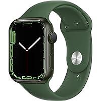 Apple Watch Series 7 (GPS) • 45‐mm kast van groen aluminium • Klaver sportbandje - Standaardmaat