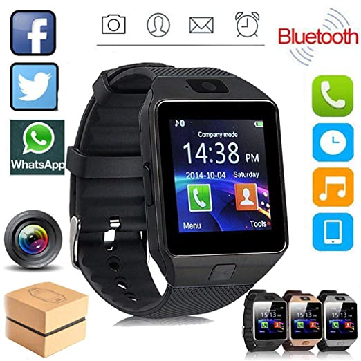 Amazon.com: VETHIEN Latest DZ09 Bluetooth Smart Watch for ...