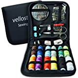 SEWING KIT - Deluxe Pack for Emergency Clothing Repairs. Highly Rated Medium Mending Sew Storage Set for Kids & Adults   Beginner Mini Travel Kits w/Improved Threads & Needles Supplies & Accessories