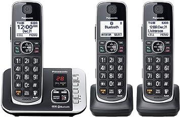 Panasonic KX-TGE633M DECT 6.0 tecnología Digital Ampliable 3 teléfono inalámbrico con contestador automático (reacondicionado Certificado): Amazon.es: Electrónica