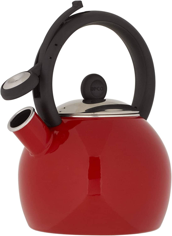 Copco 5239572 Vienna Tea kettle, 1.5 quart, red