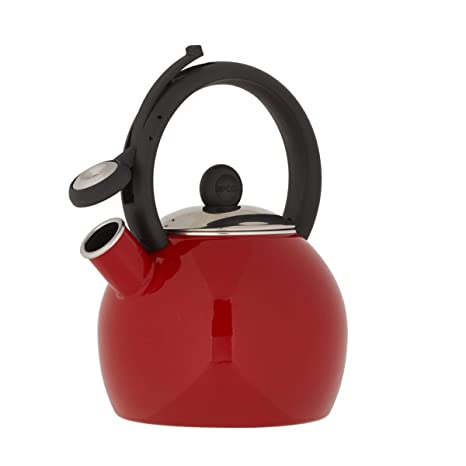 Amazon.com: Copco 5239572 Vienna Tea Kettle, 1.5 Quart, Red ...